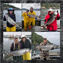 5-day/4-night British Columbia Salmon, Halibut and Ling Cod Trip for Two Anglers