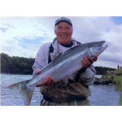 6-day/5-night Alaska Salmon, Trout, Grayling, Pike and Char Fishing Trip for One Angler