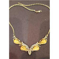 Elk Ivory and Diamond Necklace