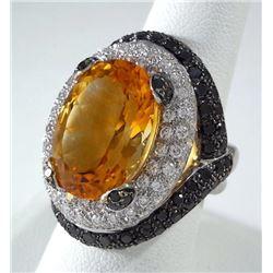 Ladies 18K White Gold Ring