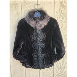Walnut Sheared Beaver Jacket