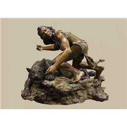 Bronze Sculpture Titled 'The Huntress'