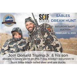 Sables Dream Hunt IX: 7-day Alaska Yacht Based Sitka Black-Tailed Deer Hunt with Donald Trump, Jr.