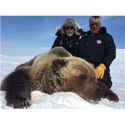 10-day CITES Exportable Barren-Ground Grizzly Bear Hunt in Nunavut Territory, Canada for One Hunter