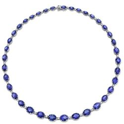 Natural Tanzanite & Diamond Necklace