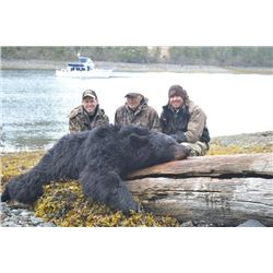 7-day Alaska Yacht-Based Black Bear Hunt and Rifle Package for One Hunter and One Non-Hunter