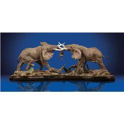 Bronze Sculpture 'Ivory Conflict'