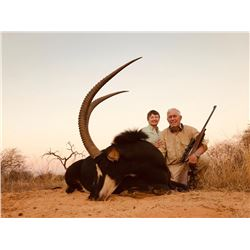 South Africa Sable Hunt with Shoulder Mount Taxidermy