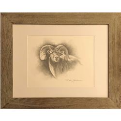 Dallen Lambson Orginal Graphite Bighorn Sheep