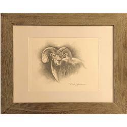 Dallen Lambson Orginal Graphite Bighorn Sheep