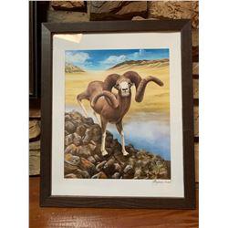 Gobi Argali Sheep Painting
