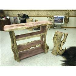 Handmade Cedar Display Case & Wine Holder