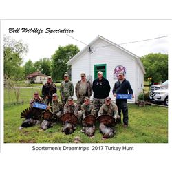 2-Day Fully Guided Eastern Wild Turkey Hunt in Kansas for Two (2) Hunters