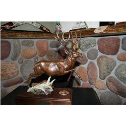 David A. Arthur Memorial Mule Deer Bronze by Dennis Jones