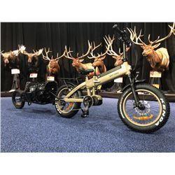 Rogue Ridge RT 750 Foldable Bike with Sherpa Trailer package