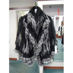 Black / Silver Fringe Knit Jacket