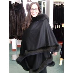 Black Dyed Fox Cape