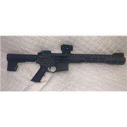 Custom made by Chris Brown this Aero Precision AR15 pistol.
