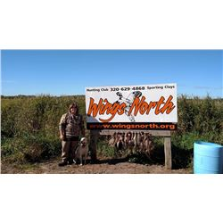 20 Bird Pheasant hunt and sporting clays for 4 people, Donated By Wings North