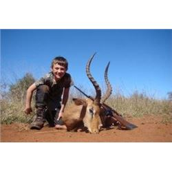 8 day South Africa 2 hunters 2 observeres includes 2 blue wildebeast, 2 impala, 2 blesbuck Donated b