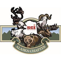 Safari Club International Alaska Chapter Head Banquet Table