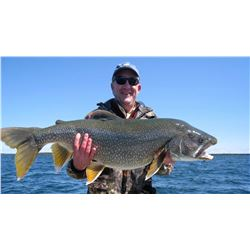 Canada: 7 Day Remote Outpost, Walleye, Pike & Lake Trout fly-in fishing trip for 2 Anglers.