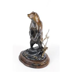 World Renowned Wildlife Sculptor Frank Entsminger's Kodiak Limited Edition Bronze