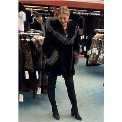 Ladies Fur: David Green Master Furrier's Lady's Hooded Mink Stroller