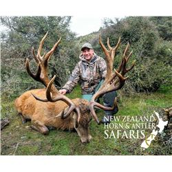 New Zealand: 8 Day 3 Hunter Red Stag, Tahr & Chamois hunt, includes $21,900 in trophy fees.