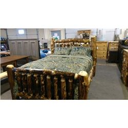 *Michigan – Queen Aspen Bed, Mattress & Box Spring; Pillows, Dresser; Night Stand;  Quilt and Sheets