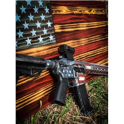 Custom-made American Flag Safe: