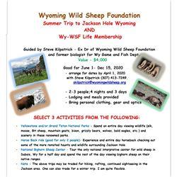 Wyoming Summer Pack Trip