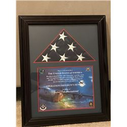 American Flag Flown During Combat