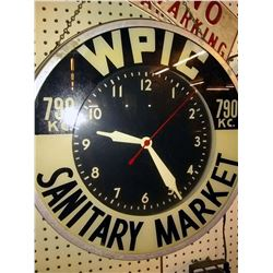 WPIC / Sanitary Market Vintage Clock, Works!