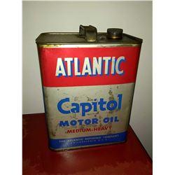 Vintage Atlantic Capital 2 Gal. Motor Oil Can, Medium Heavy