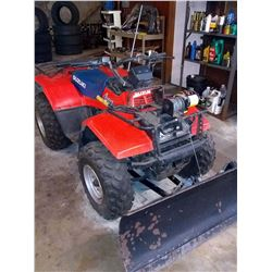 Suzuki 4WD Quadrunner 250 w/ Snow Plow, & Chicago Utility Winch