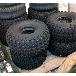 Set of 4 New Golf Cart Tires w/ Rims
