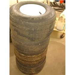 Set of 4 Good Carlisle Rimmed Golf Cart Tires