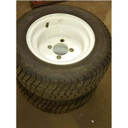 Pair of Rimmed Kenda Pro Tour Golf Cart Tires