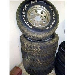 Set of 4 Firestone Destination M/T 285-75-16 Tires on Rims