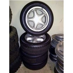 Set of 4 Factory Mustang Rims-w/ Nice Tires, 225-55-16