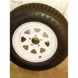 New Load Star K550 Trailer Tire on Rim
