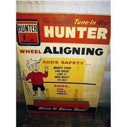 Vintage Hunter Wheel Alignment Metal Sign