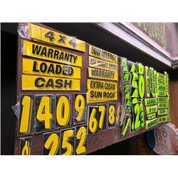 Car Dealer POS Materials, Windshield Decals