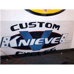 Custom Knievel Cycles Collectors Display Sign, Approx. 4x8 Ft