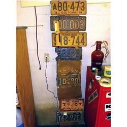 Collection of Antique and Vintage License Plates