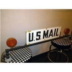 Vintage US Mail Rural Delivery Topper w/ Sign and Blinker Lights