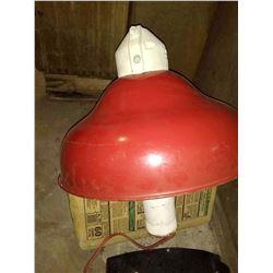 Vintage Stonco EUZ Porcelain Service Station Pump Island Light