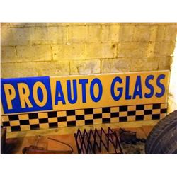 Pair of Pro Auto Glass Signs