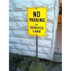 Vintage No Parking in Service Lane Portable Sign